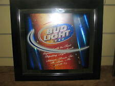 LARGE BUD LIGHT 3 LAYER MIRROR SIGN (GREAT SHAPE)