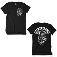 Sons of Anarchy Redwood Reaper Backpatch Official TV series Black Mens T-shirt