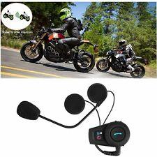 500M BT Bluetooth FM Radio Motorcycle Helmet Intercom Interphone Headset LN