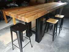 Industrial steel Dining table legs. POWDER COATED / RAW. MADE TO ORDER. From$425