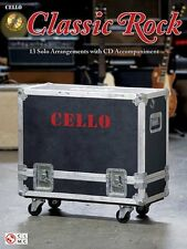 "Instrumental Play-Along For Cello ""Classic Rock"" 13 Solos-Music Book/Cd-New-Sale"