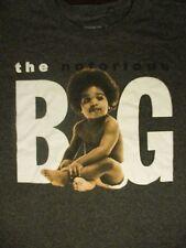 L gray THE NOTORIOUS BIG RAPPER t-shirt by BROOKLYN MINT
