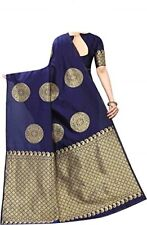 Zari Work Breathable Banarasi Sarees Indian Tradtional New Wedding Sari wts05