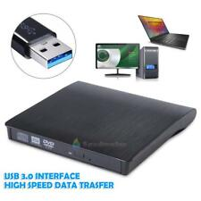 Slim External USB 3.0 DVD RW CD Writer Drive Burner Reader Player For PC Laptop