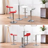 Set Of 2/4 Bar Stools Counter Height Adjustable Swivel Pub Chair Pu Leather
