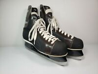CCM Bronco Canadian Ice Hockey Skates w/ Blade Guards VINTAGE Adult Mens Size 11