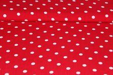 Viskose-Druck Punkte rot (10 cm)