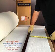 "Kaowool Thermal Ceramics Fiber Insulation Blanket 1/2""x4""x24"" 8# Muffler Stove"