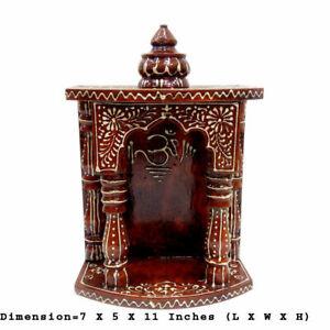 Wooden Handcrafted Hindu Temple Mandir Pooja Ghar Mandapam Worship Wall Art