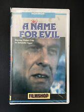 A Name For Evil Ex-Rental Vintage Big Box VHS Tape English dutch subs Horror