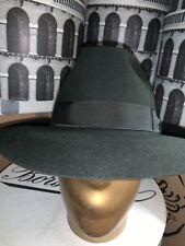 Borsalino Como 2 Men's Fedora Hat Made In Italy Size 62 7 3/4