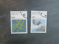 2007 GREENLAND SCIENCE PAIR OF USED STAMPS
