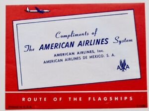 Vintage American Airlines airline luggage label