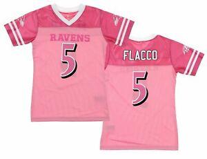 NFL Youth Girls Baltimore Ravens Joe Flacco #5 Dazzle Jersey