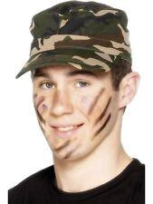 Ejército Militar Gorra Camuflaje Soldado Combate Unisex Sombrero Disfraz NUEVO
