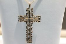 10K Solid Yellow Gold Christ Cross Pendant & Chain Necklace (4.29 Grams)