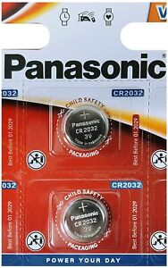CR2032 Panasonic x2  Lithium Coin Cell 3V Battery Car Key Fobs Toys Remote