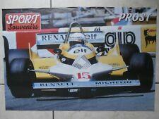 POSTER FORMULE 1  43 x 30 cm & PROST & Renault