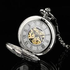 PACIFISTOR Herren Mechanik Taschenuhr Uhr Handaufzug Uhrenkette Kette klassisch