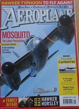 Aeroplane Monthly Magazine 2017 January Air Anglia,Horsley,Canberra,Mosquito