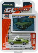 GREENLIGHT MUSCLE 1971 DODGE CHALLENGER R/T GREEN 1/64 DIECAST CAR MODEL 13160-C