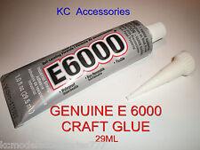 E6000 GLUE 29ML Industrial Strength GENUINE Jewellery Crafts Rhinestones Crystal