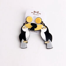 Gothic Womens Exaggerated Parrot Bird Toucan Earrings Punk Ear Stud Gothic New