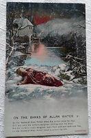 On the Banks of Allan Water (3) Postcard Bamforth Song Card 4502/3 VTG