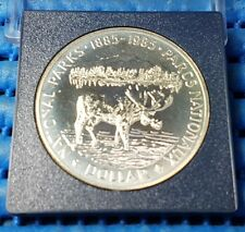 1885 - 1985 Canada Dollar National Park Parcs Nationaux Moose Silver Proof Coin