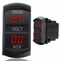 LED Digital Dual Voltmeter Voltage Gauge Battery Monitor Panel Car Boat 10-60V