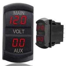 LED Digital Dual Voltmeter Voltage Gauge Battery Monitor Panel Car Boat 10-60V