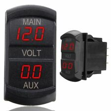Led Digitale Dual Voltmetro Tensione Gauge Batteria Monitor Pannello Auto Camion
