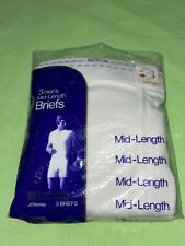 (3) Vintage Jc Penny Men's Mid-Length Briefs Size 36 Nos Underwear Towncraft