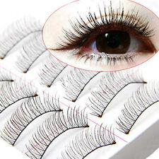 10 Paar falsche Wimpern unrechte künstliche Natur & Handgemacht Eyelashes Set DE