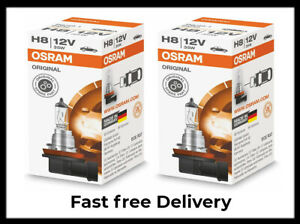 2 x Osram H8 12V 35W Car Base PGJ19-1 Globe Halogen Headlight Bulb