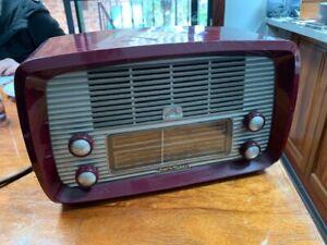 Vintage valve radio HMV 64-52 from 1959. Working condition.