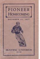 Original Vintage 1927-Denver University Homecoming Booklet-DU Pioneers
