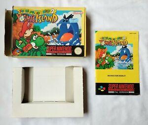 Super Mario Land 2: Yoshi's Island Manual & Box ONLY | Super Nintendo SNES