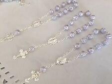 40 Pc Mini Rosary OYSTER GRAY COLOR/ Baptism Favor/ Decenario/Recuerditos Decade