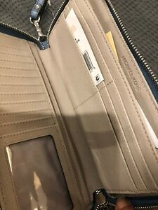 BNWT Michael Kors Pale Blue Leather Zip Around Wallet