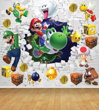 Super Mario Bespoke Wallpaper Backdrop Wall Mural Feature Wall Decal Large Print