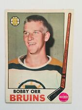 Bobby Orr Opc 3rd year hockey card with rare stamp insert 1969