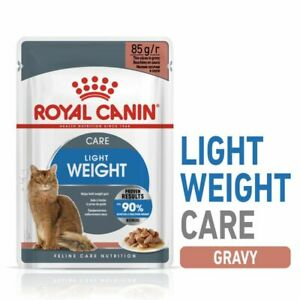 Adult Wet Cat Food Light Weight Care Gravy Complete Chunks Sauce Royal Canin