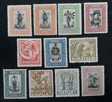 1932- Papua lot of 11 Pictorial Postage stamps Mint