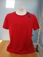 Ralph Lauren Hombres Custom Fit Camisa Camiseta Rojo Talla XL 48' Pecho Nuevo con Etiquetas X Grande para Hombre