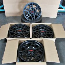 "17"" Matte Black Wheels Fits Toyota Tacoma 4Runner Fj Cruiser Sema Pro Set of 4"