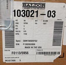 ~Discount HVAC~LN-72W65-Baldor Blower Motor 5HP 60Hz 3PH 575V 1750RPM 103021-03