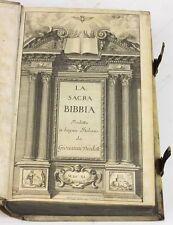 1641 Bible Italian La Sacra Bibbia Vellum Brass Clasps Giovanni Diodati Bible