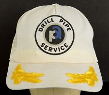 Drill Pipe Service Gas Oil Petroleum Trucker Baseball Hat Cap Snapback AS IS