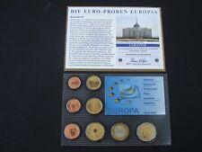 TOP Kasachstan Euro Proben Kursmünzensatz im Blister + Zertifikat! KMS! € Probe!